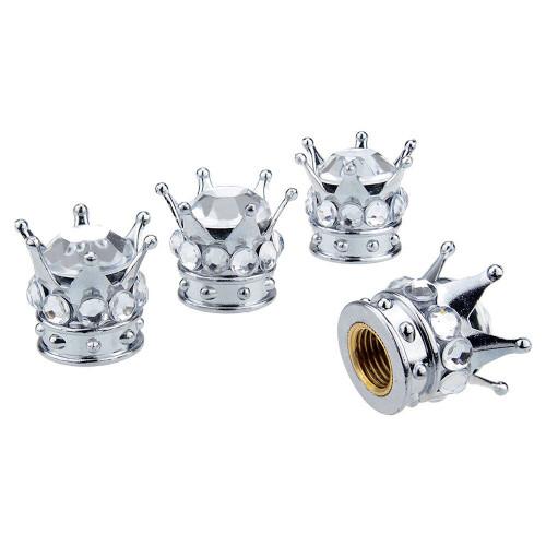 crystal princess crown tirewheel stem valve caps