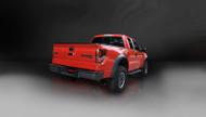 """Corsa 14388BLK Sport Black Twin 4.0"""" Single Side Cat-Back for 2010-only Ford F-150 Raptor  5.4L V8"""