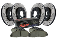 StopTech 2017-2018 Ford Raptor 3.5L SVT Drilled & Slotted Rear Brake Rotors and PosiQuiet Ceramic Brake Pads 938.65525