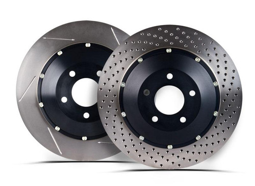 StopTech 2013-2016 Ford Focus ST AeroRotor Slotted Front Brake Rotors Pair 81.342.9911