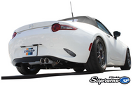 Shop for the Greddy Supreme SP Axle-Back 304 Stainless Steel Exhaust #10148207 for your 2016 or 2017 Mazda Miata MX-5 Convertible or RF from the team at Just Bolt-Ons. Enjoy great pricing on the MX-5 ND Greddy Supreme SP Axle-Back Exhaust System by creating a free account and adding it to your shopping cart.