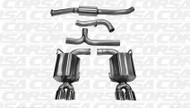 "Corsa 14863 Sport Polished Twin 3.5"" Dual Rear Cat-Back for 2011-2014 Subaru Impreza STI Sedan 2.5L Turbo Manual"