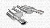 "Corsa 14317 Xtreme Polished Single 4.0"" Dual Rear Axle-Back for 2011-2013 Ford Mustang Boss 302  5.0L V8"