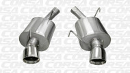 """Shop JBO's Special Deals on Corsa 14311 Polished Sport Single 4.0"""" Dual Rear Axle-Back for your 2005-2010 Ford Mustang Shelby GT500  5.4L V8  today, call 1-844-JBO-BOLT."""