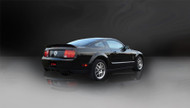 """Corsa 14311BLK Sport Black Single 4.0"""" Dual Rear Axle-Back for 2005-2010 Ford Mustang GT  4.6L V8"""