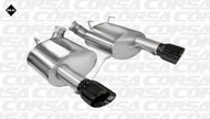 """Corsa 14316BLK Sport Black Single 4.0"""" Dual Rear Axle-Back for 2011-2014 Ford Mustang GT  5.0L V8"""