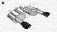 "Corsa 14316BLK Sport Black Single 4.0"" Dual Rear Axle-Back for 2011-2013 Ford Mustang Boss 302  5.0L V8"