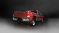 "Corsa 14792BLK Sport Black Twin 4.0"" Single Side Cat-Back for 2011-2013 Chevy Silverado 2500 Extended Cab-Standard Bed 6.0L V8"