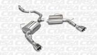 "Corsa 14413 Sport Polished Single 4.0"" Dual Rear Cat-Back for 2011-2014 Dodge Avenger   V6"