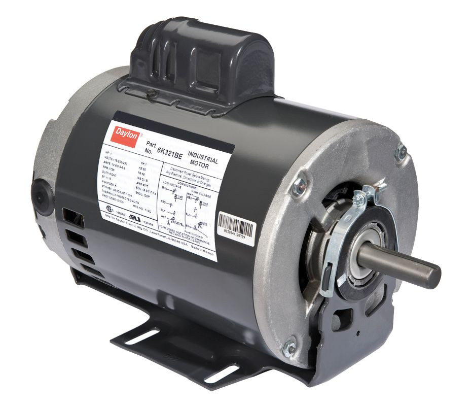 110v  60hz Or 220v  50hz 1  2hp Capacitor Start Motor With Thermal Protection