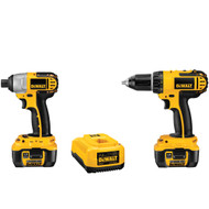 18V Compact Li-lon 2 Tool (DCD760, DCF826) w/ 2 Batteries and Bag