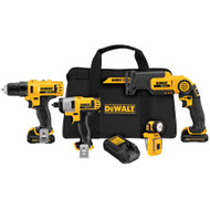 12V MAX 4 Tool (DCD710, DCF815, DCS310, DCL510) w/ 2 Batteries and Bag