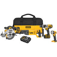 20V MAX 4 Tool (DCD985, DCS38, DCS393,DCL040) w/ 2 Batteries (3.0Ah) and Bag