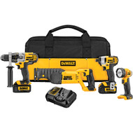 20V MAX 4 Tool (DCD985, DCF885, DCS380 Recip, DCL040) w/ 2 Batteries (3.0Ah) and Bag