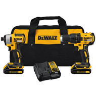 DEWALT 20V Max Compact Brushless Drill/Driver and Impact Combo Kit