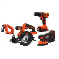 20V MAX* Lithiuim Ion 4 Tool Combo Kit: Drill/Driver, Circular Saw, MOUSE® Detail Sander and Light