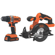 20V MAX* Lithium Ion Drill/Driver + Circular Saw Combo Kit