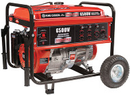 Generator, Gasoline, 6500W, w/wheel kit
