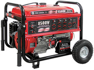 Generator, Gasoline, Electric Start, 8500W, w/wheel kit