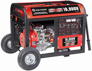 Generator, Gasoline, Electric Start, 10,000W, w/wheel kit