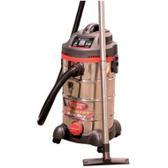 Wet/Dry Vacuum, Stainless,10 Gallon, 5 Peak HP