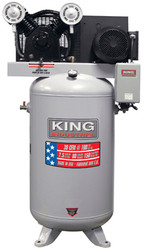 Air Compressor, High Output, Stationary,150 PSI, 7.5 HP (peak)