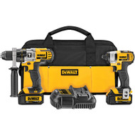 Dewalt 20V MAX* Lithium Ion Hammerdrill / Impact Driver Combo Kit (3.0 Ah)