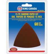 Sanding Paper kit, 60 Grit,15 pc