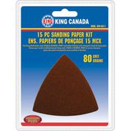 Sanding Paper kit, 80 Grit,15 pc