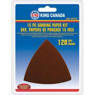 Sanding Paper kit, 120 Grit,15 pc