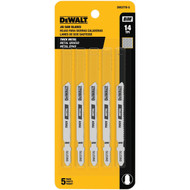 Dewalt Dw3770-5 3-Inch 14 Tpi Thick Metal Cut Cobalt Steel T-Shank Jig Saw Blade, 5-Pack