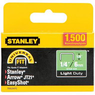 "1/4"" Light Duty Staples 1500Pk"