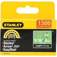 "5/16"" Light Duty Staples  1500Pk"