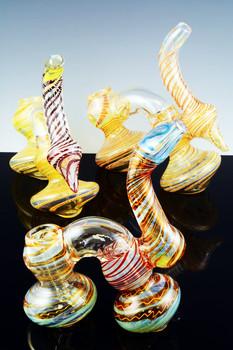 Color Changing Double Chamber Sherlock Bubbler - B715