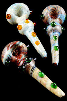 Large Colorful Reverse Glass Pipe - P1186