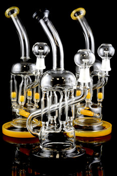 Stemless GoG Wax Recycler Water Pipe with Inline Perc - WP952