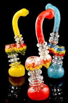 Large Sherlock Frit Glass Bubbler - B821