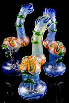 Large Color Changing Striped Sherlock Bubbler - B854