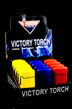18 Pc Victory Torch Lighter Display - L153