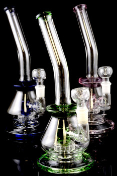 Medium Stemless GoG Curved Water Pipe with Inline Showerhead Perc - WP1202