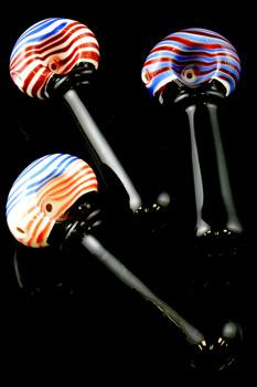 Black Swirl Glass Pipe - P1380