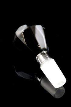14.5mm Black Diamon Cut Glass on Glass Bowl - BS494