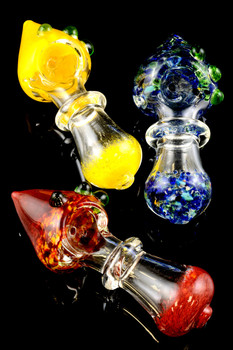 Frit Cone Glass Pipe - P1431