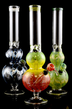 (US Made) Large Colored Glass Water Pipe - WP1302