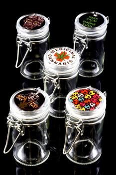 Glass Jar with Decal - J159