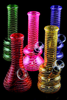 (Mix) Mini Painted Glass Water Pipe - WP1327