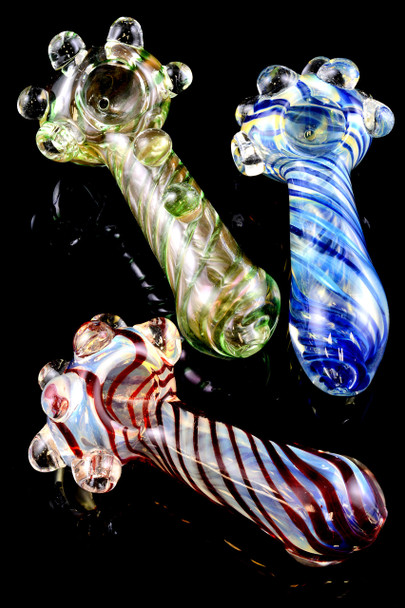 Thick Striped Glass Pipe - P1348