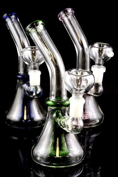 Small Stemless GoG Water Pipe with Showerhead Perc - WP1260