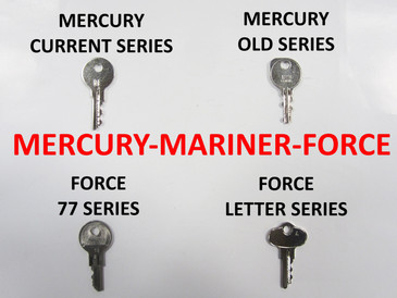 Mercury, Mariner & Force OEM Outboard Motor Ignition Keys