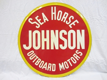 Johnson Sea Horse Outboard Motor Sign - A